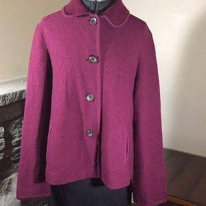 Lands' End Purple Blazer Size 12